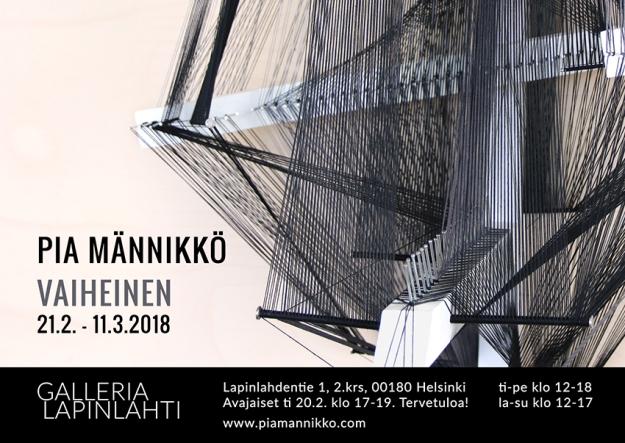 Pia Männikkö Vaiheinen-exhibition flyer