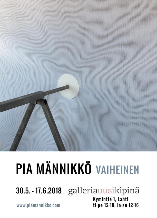 Pia Männikkö Phaser exhibition flyer, 2018
